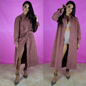 Vintage blush colored trench coat
